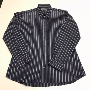Givenchy Men's Cotton Striped Collar Dress Shirt